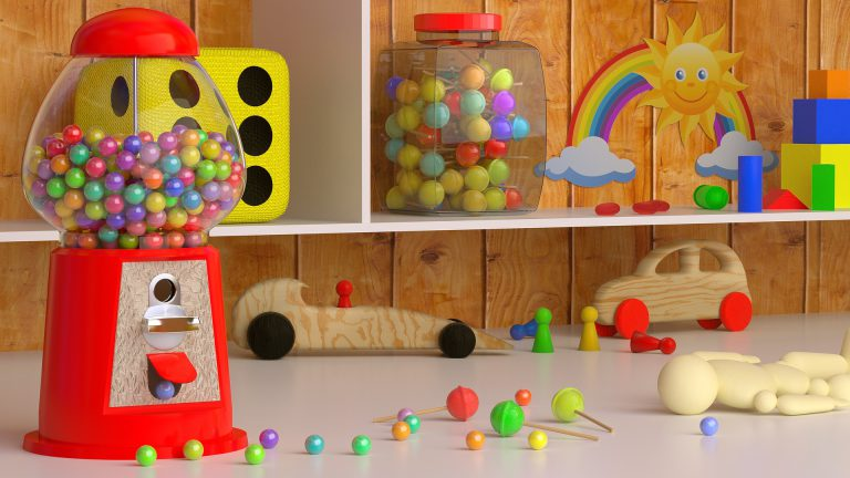 Γραφείο και βιβλιοθήκη σε παιδικό δωμάτιο