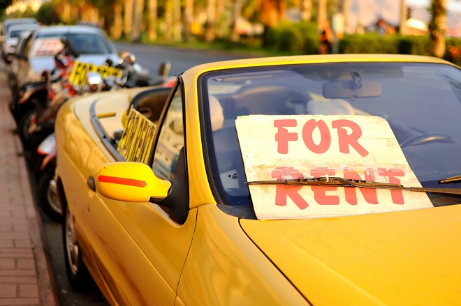 διαφήμιση για ενοικιάσεις αυτοκινήτων